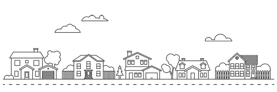 Houses drawn by a mortgage lender in Kansas City